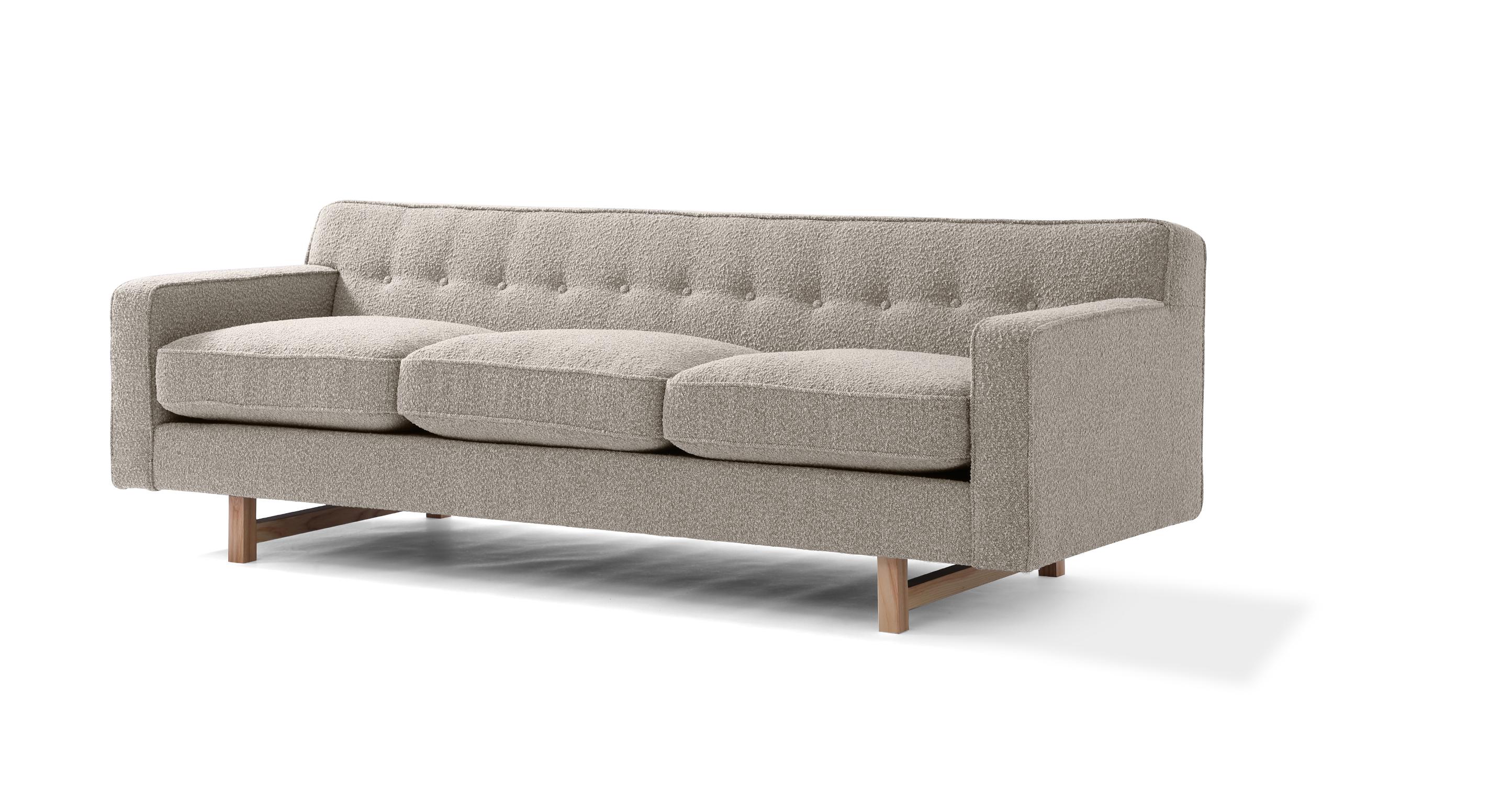 "Kennedy 86"" Fabric Sofa, Bocce Boucle"