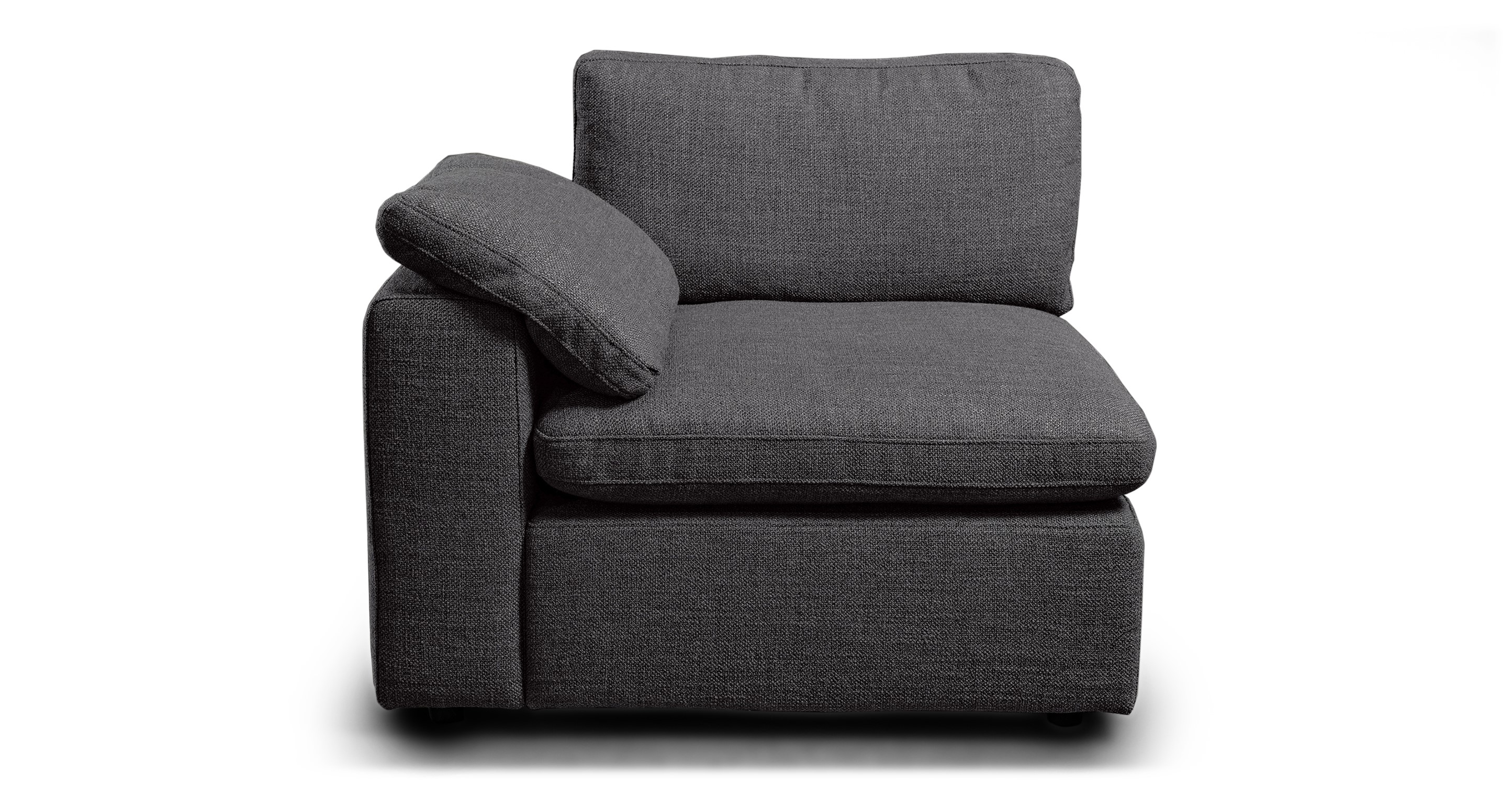 "Nest Modular 40"" Left Arm Chair, Dior Grey"