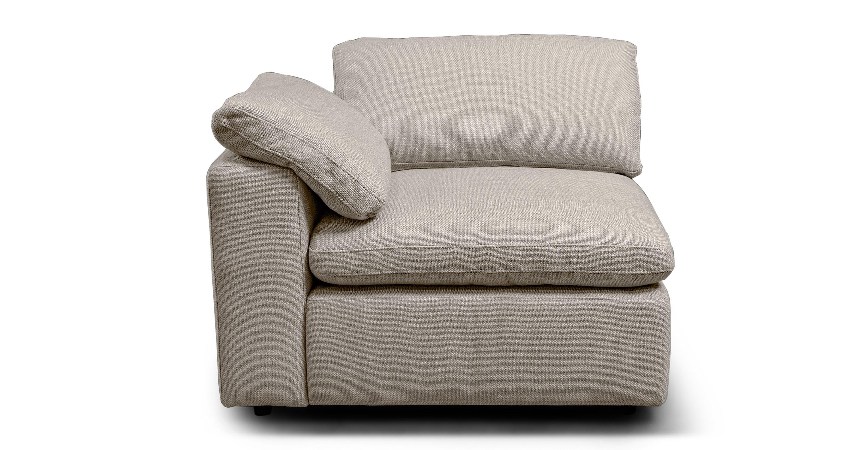 """Nest Modular 40"""" Left Arm Chair, Dunes"""