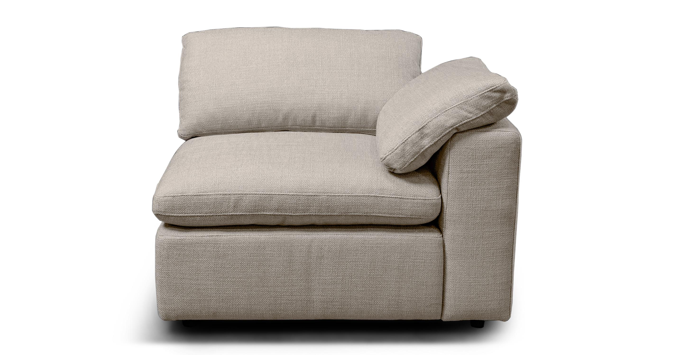 """Nest Modular 40"""" Right Arm Chair, Dunes"""