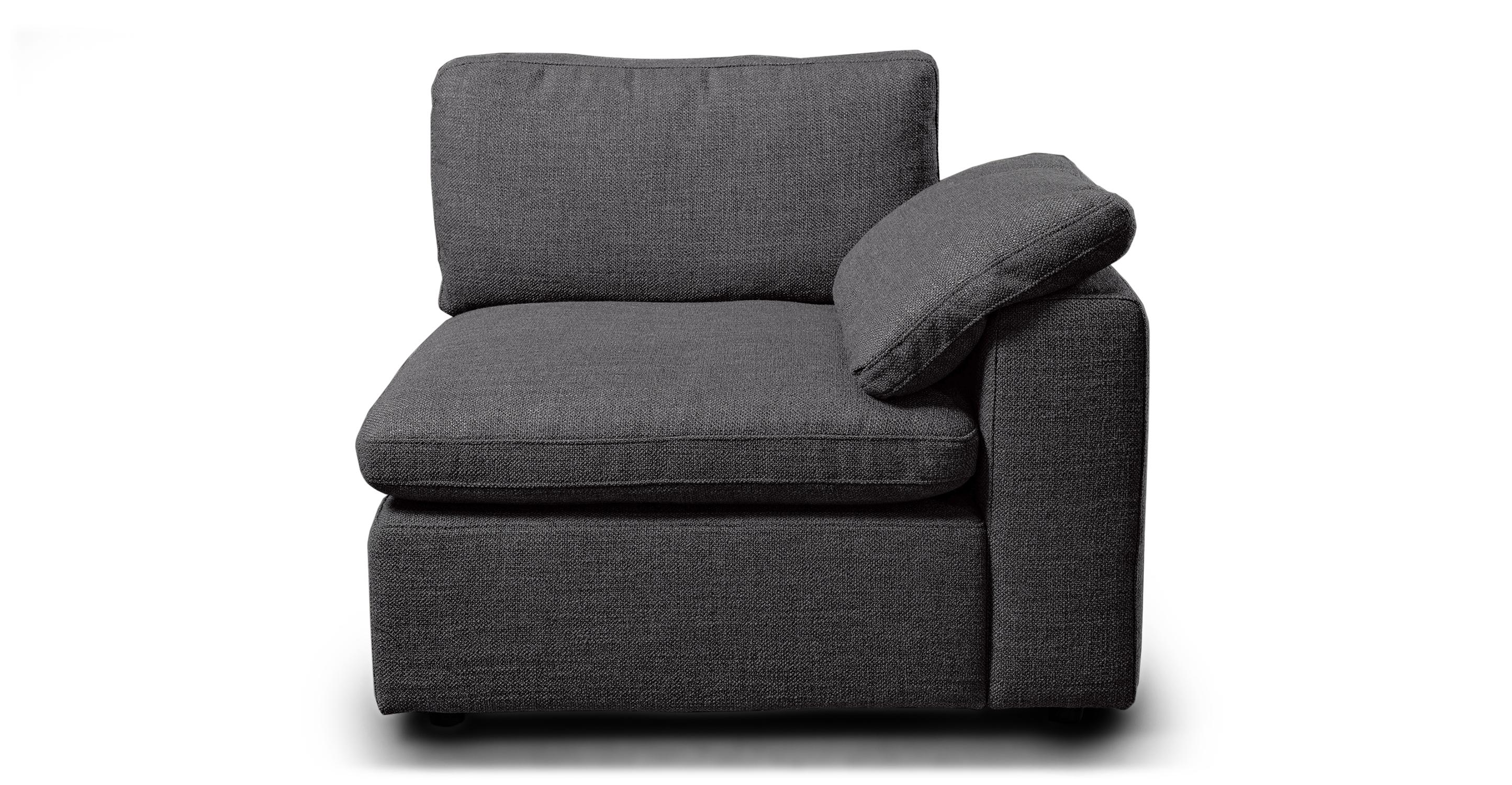 "Nest Modular 40"" Right Arm Chair, Dior Grey"