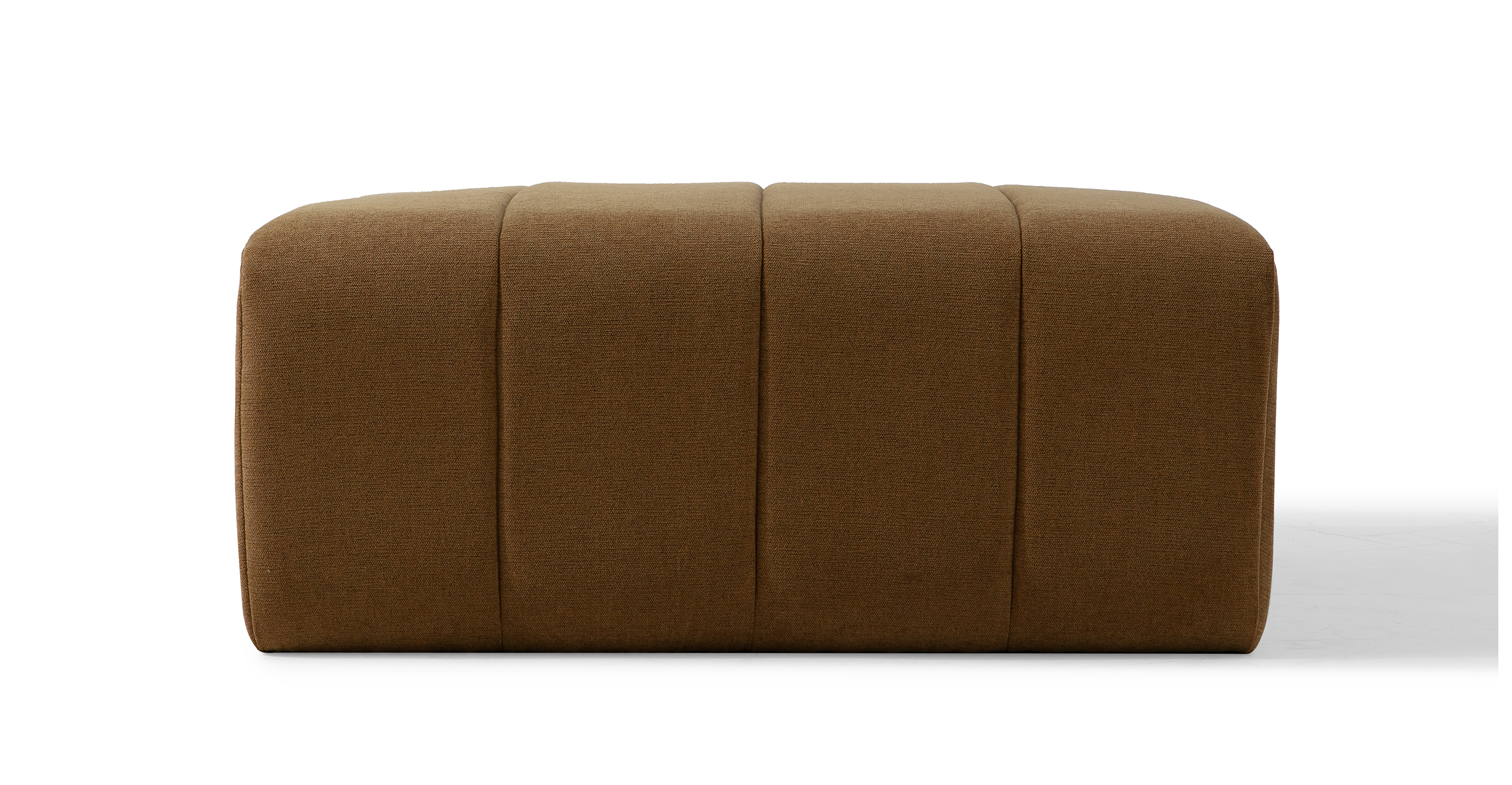 "Cooper 36"" Fabric Ottoman, Cumin"
