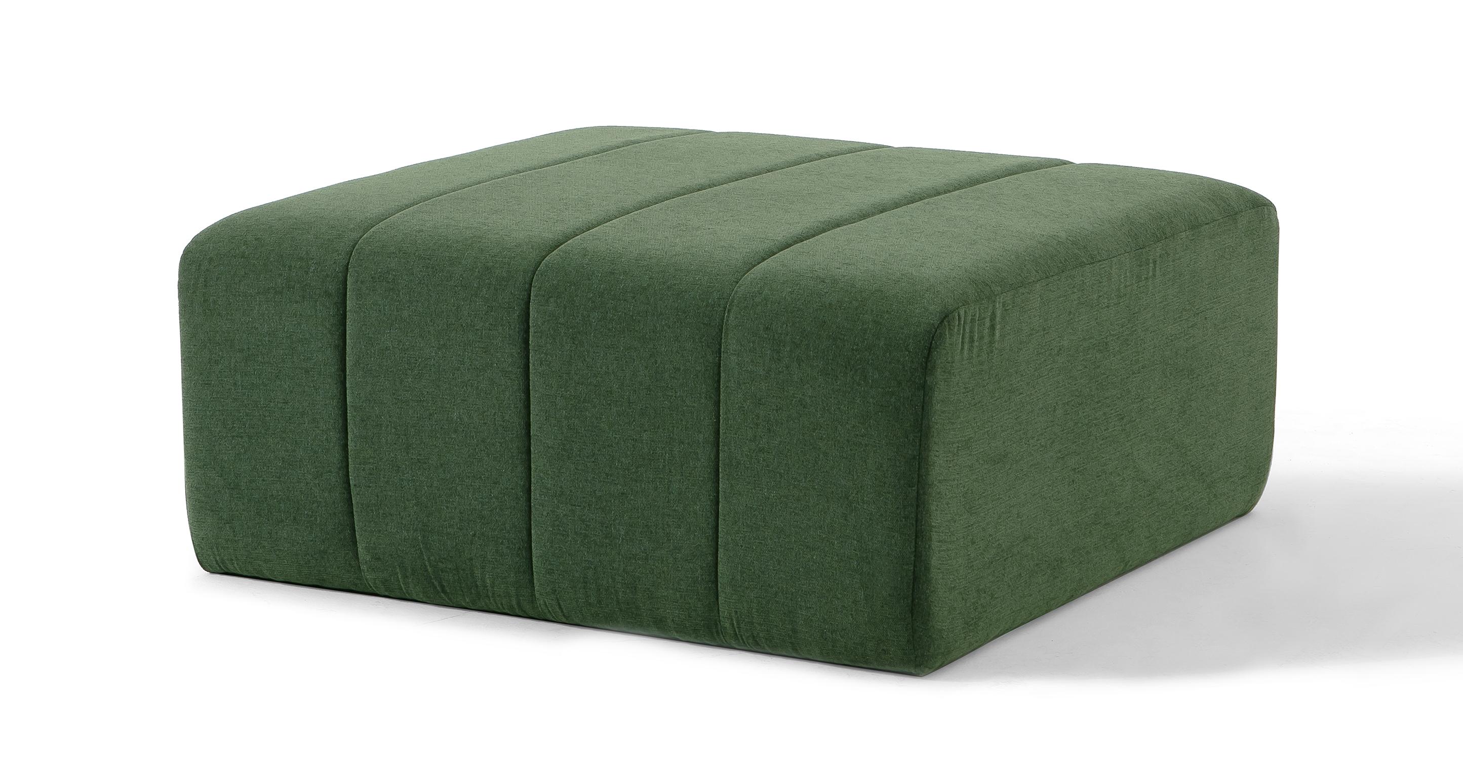 "Cooper 36"" Fabric Ottoman, Thyme"
