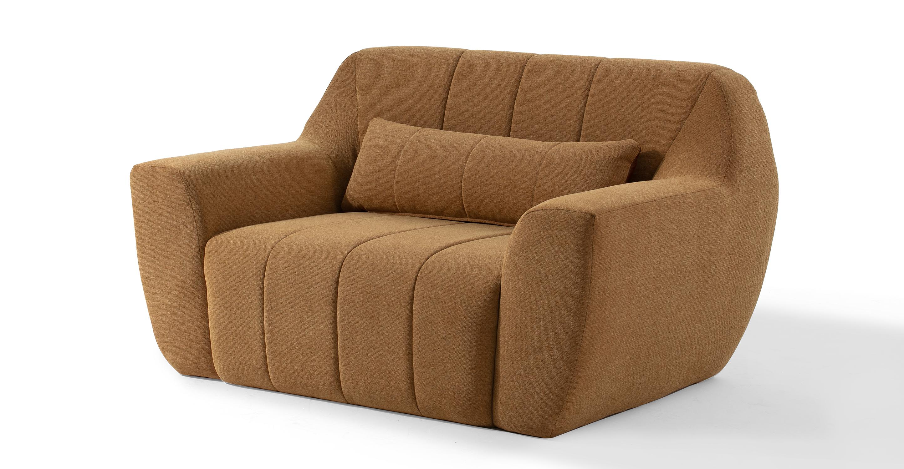 "Cooper 56"" Fabric Chair, Cumin"