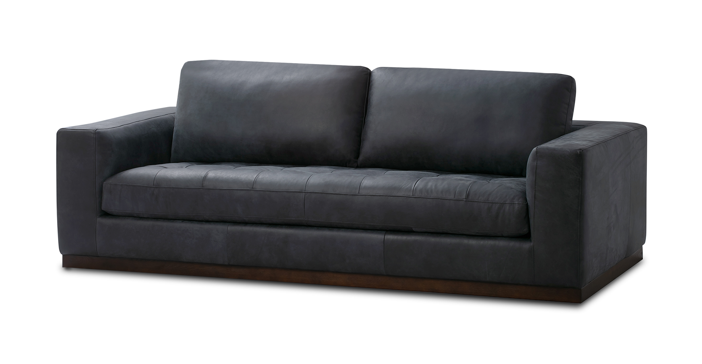 "Newport 91"" Leather Sofa, Night"