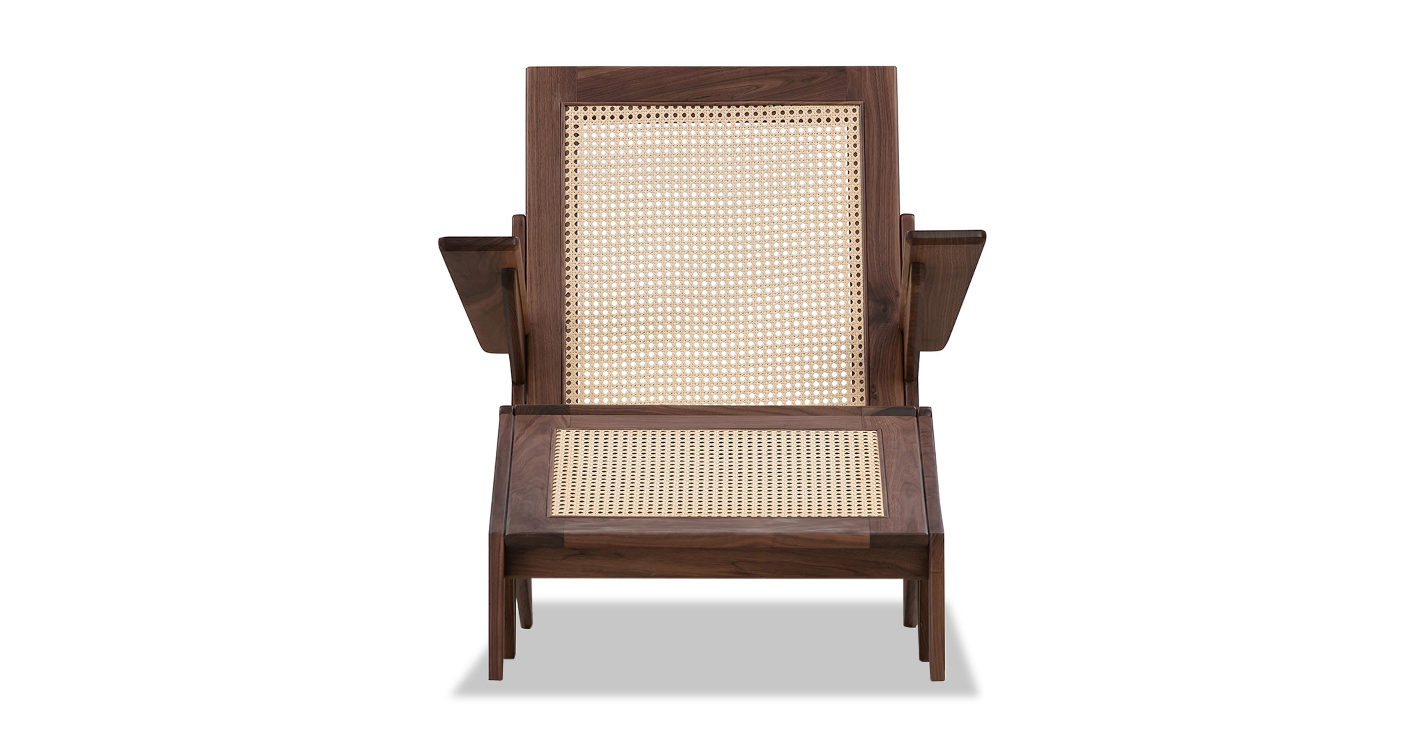 Laguna Chair & Ottoman, Walnut