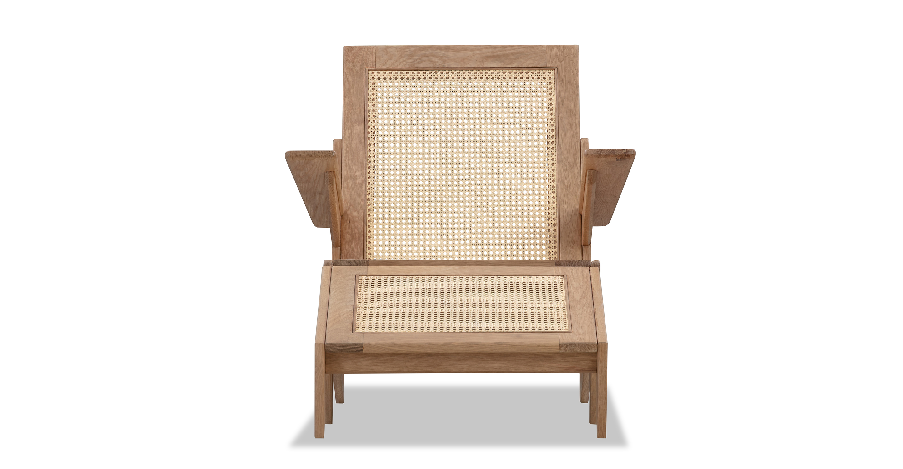 Laguna Chair & Ottoman, Natural Oak