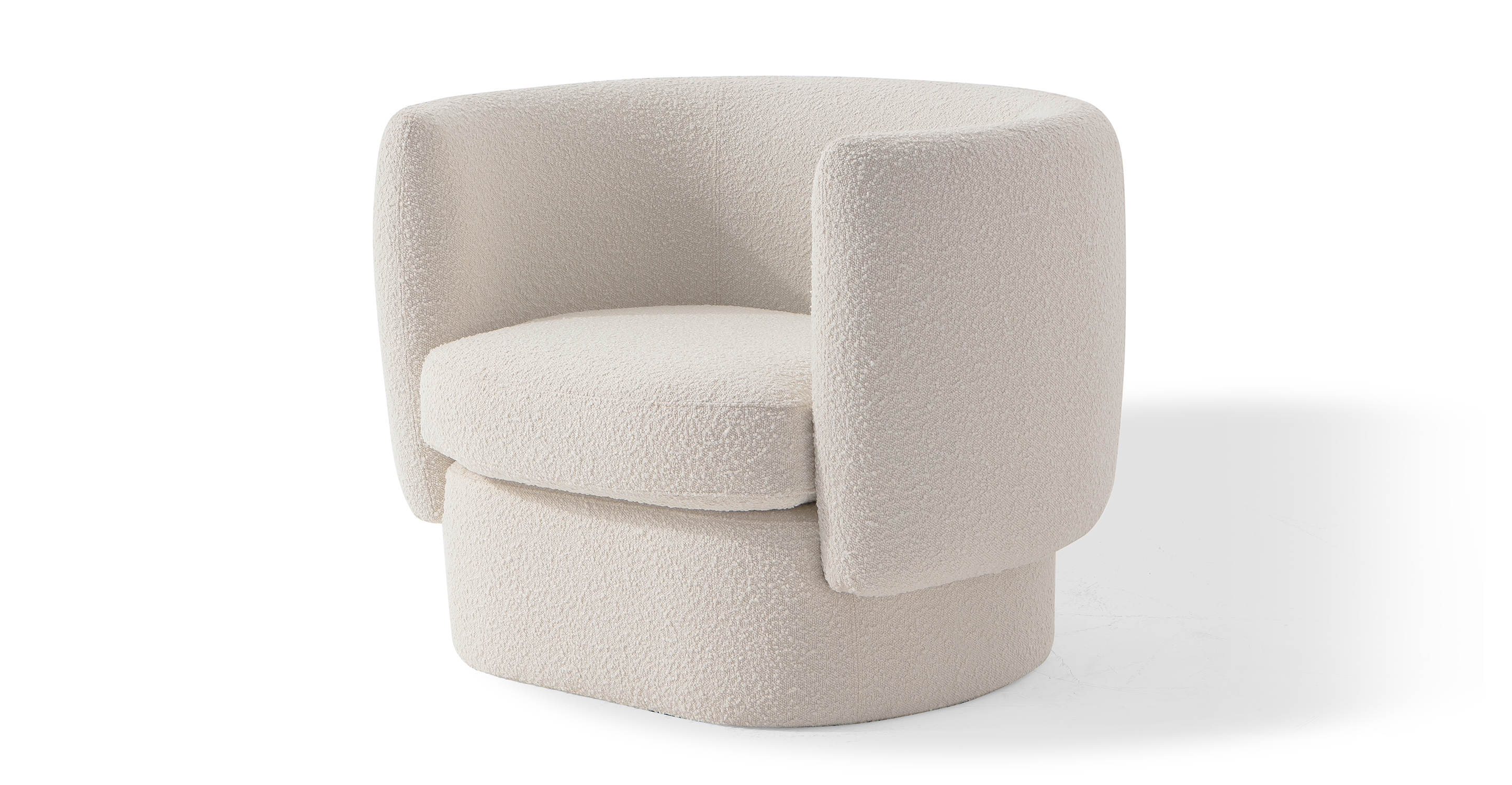 """Swagger 39"""" Fabric Chair, Blanc Boucle"""