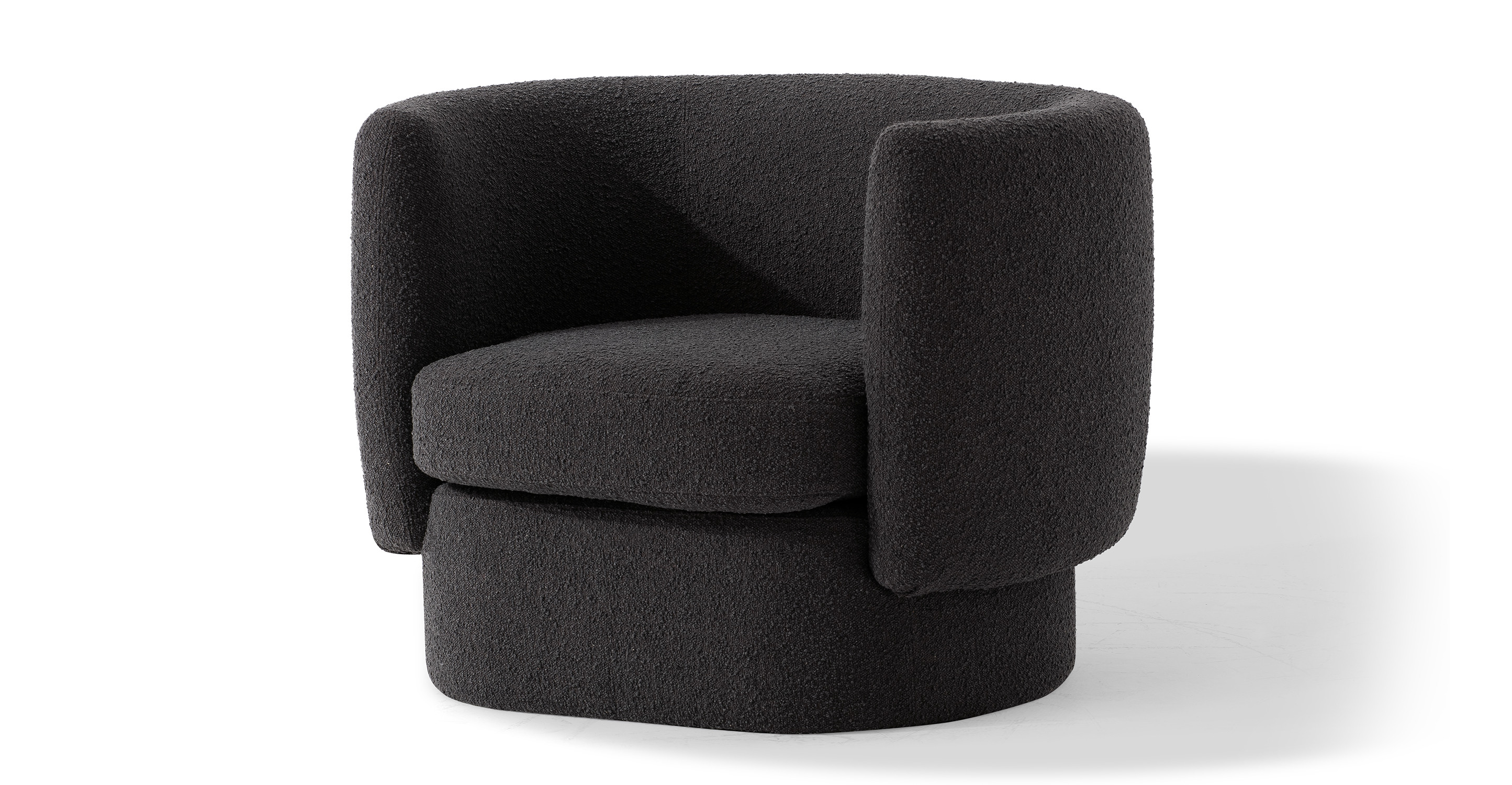 """Swagger 39"""" Fabric Chair, Gris Boucle"""