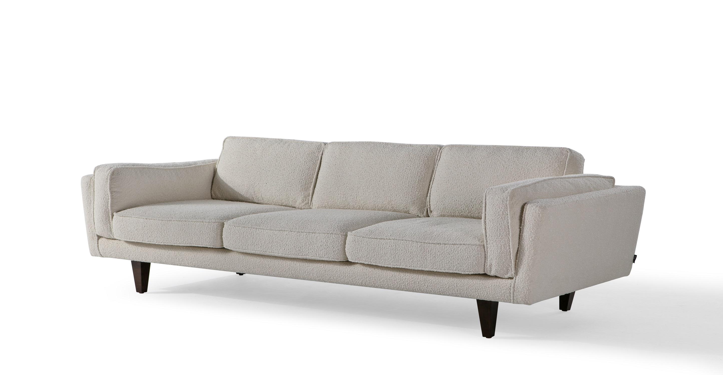 "Brooklyn 90"" Fabric Sofa, Cream Boucle"