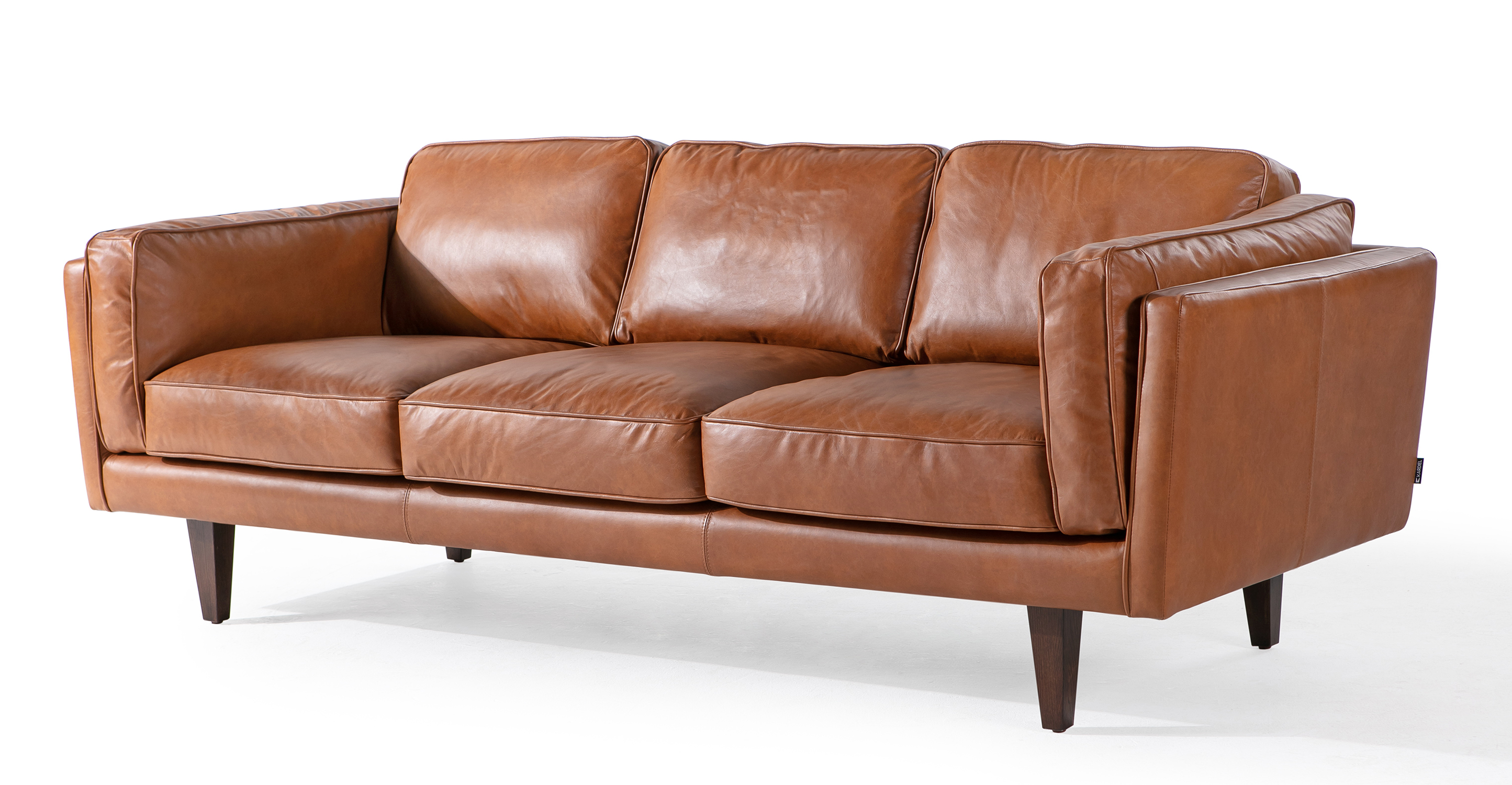 "Brooklyn 90"" Leather Sofa, Napoli Spice"