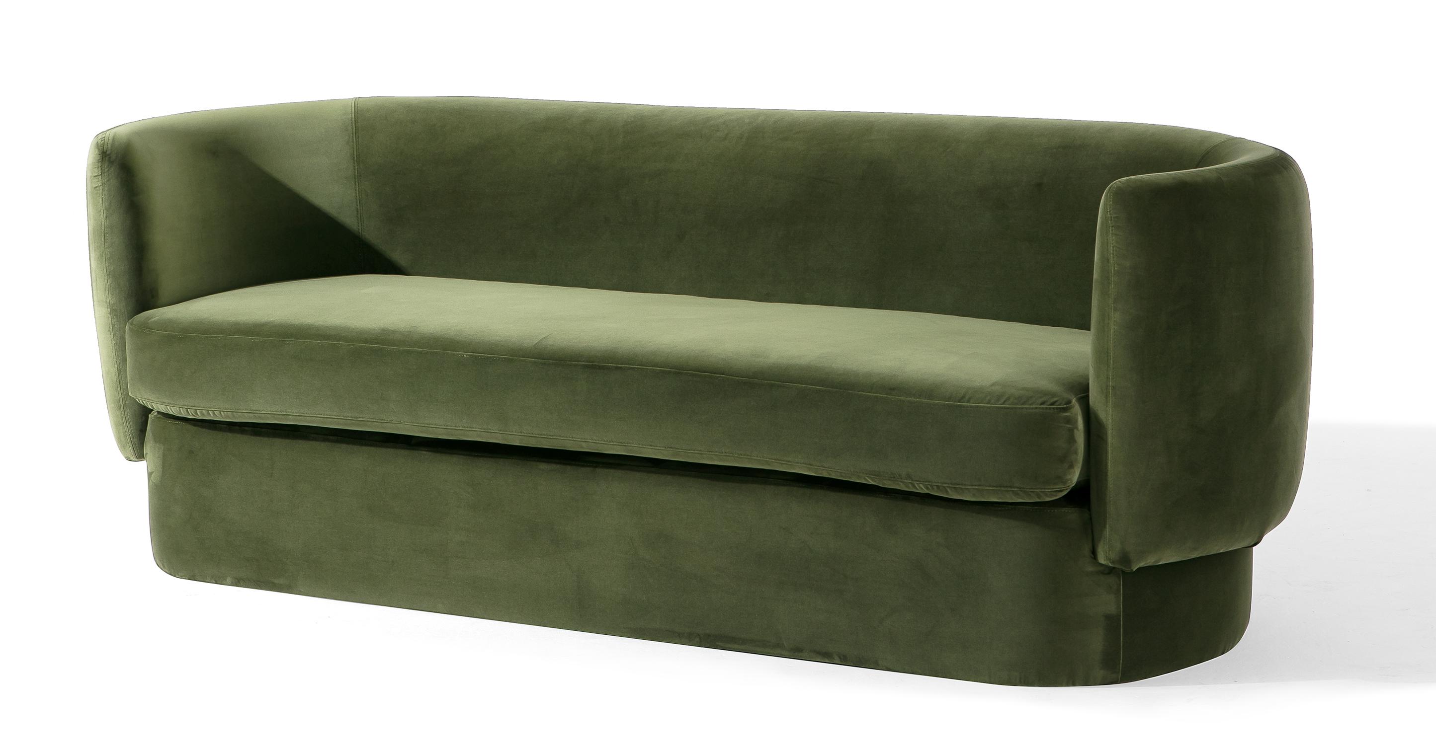 """Swagger 83"""" Fabric Sofa, Fern Velvet"""