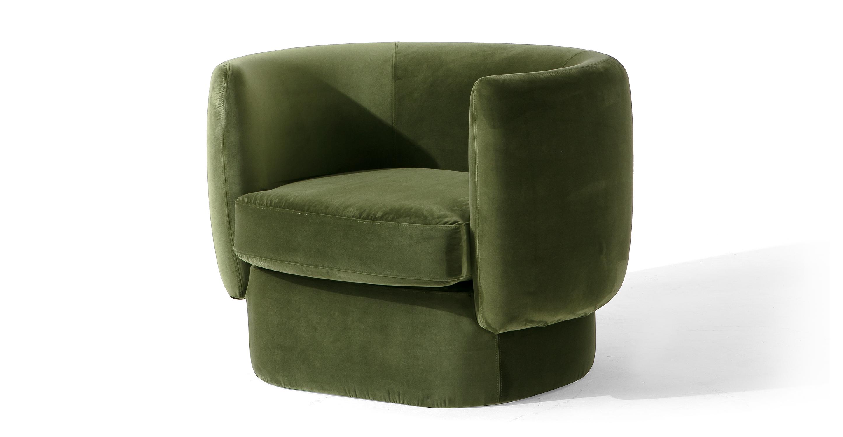 """Swagger 39"""" Fabric Chair, Fern Velvet"""
