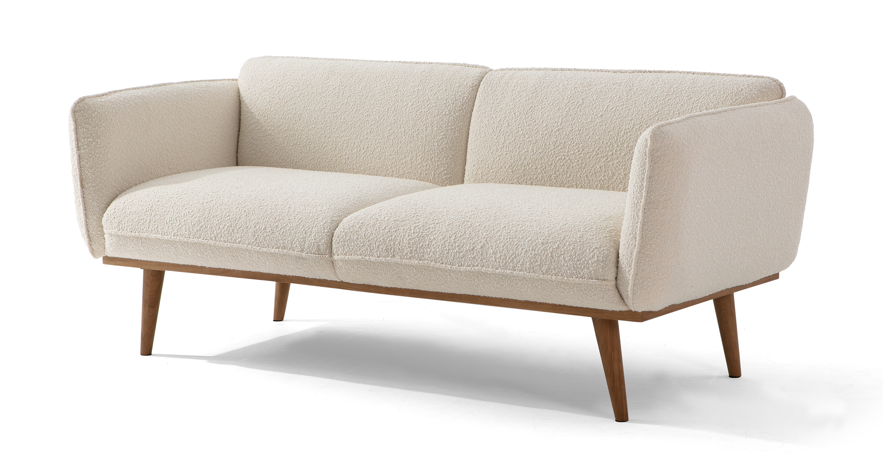 "Bonaparte 73"" Fabric Sofa, Blanc Boucle"
