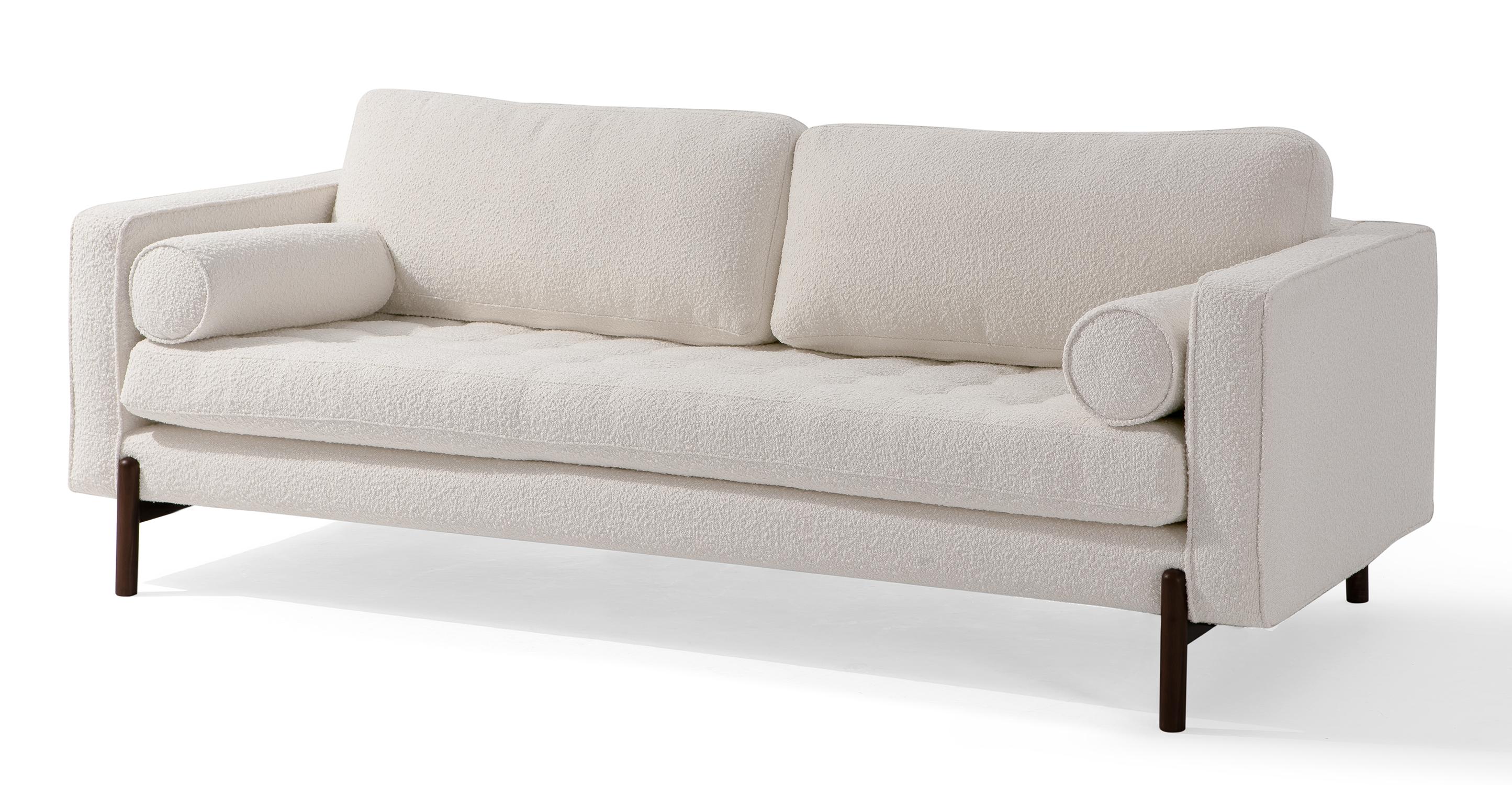 "Dwell 88"" Fabric Sofa, Blanc Boucle"