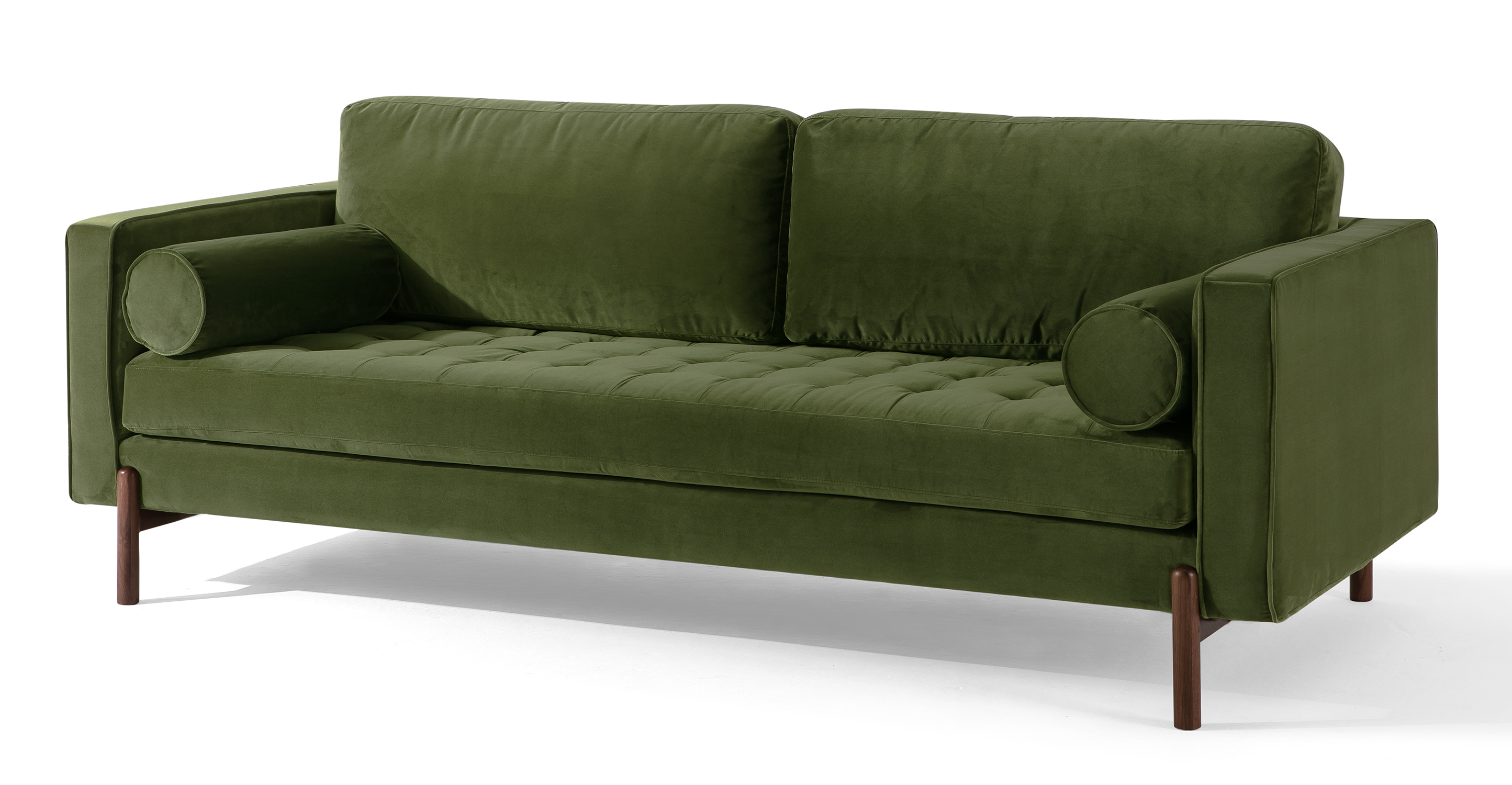 "Dwell 88"" Fabric Sofa, Fern Velvet"