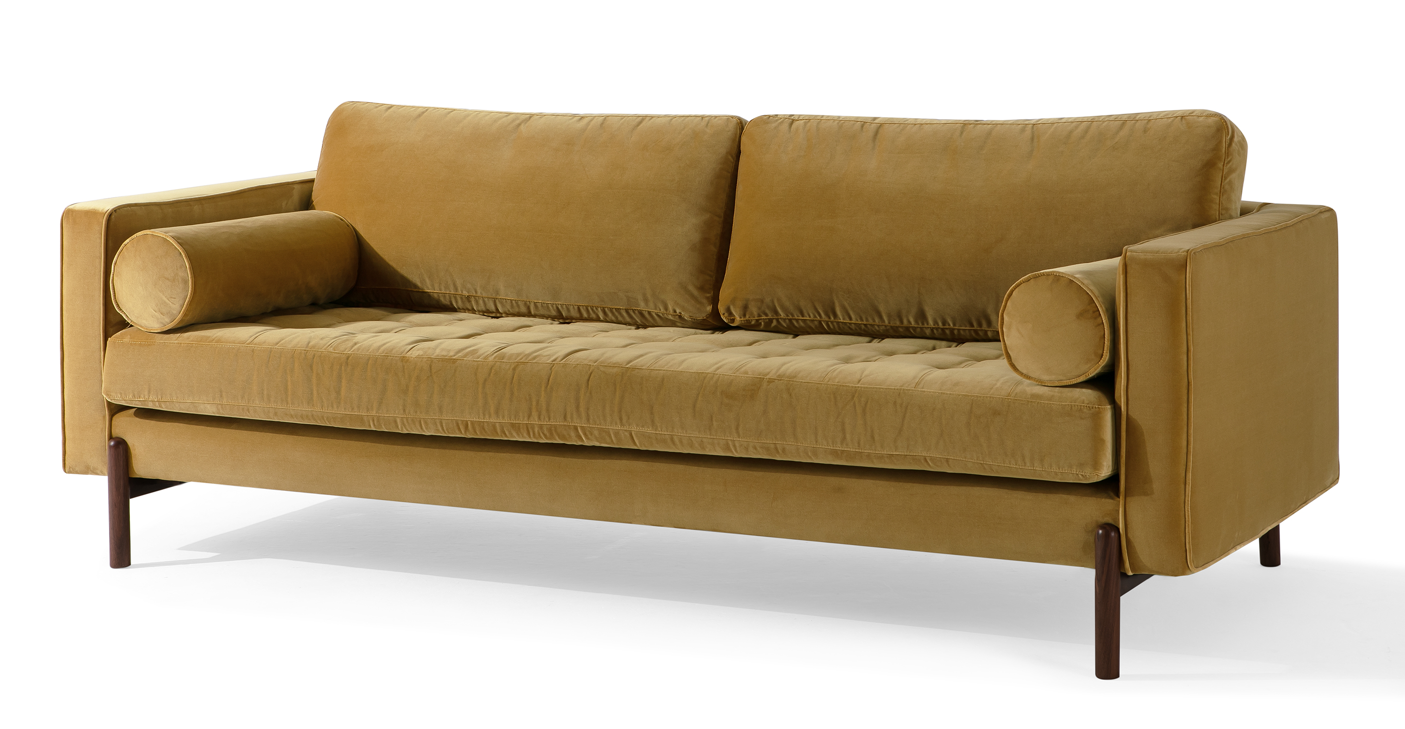 "Dwell 88"" Fabric Sofa, Merigold Velvet"