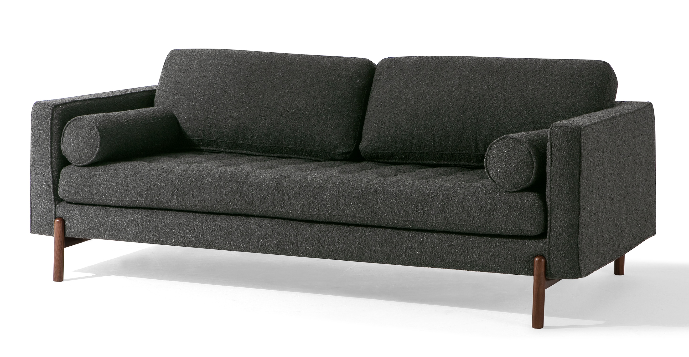 "Dwell 88"" Fabric Sofa, Noir Boucle"