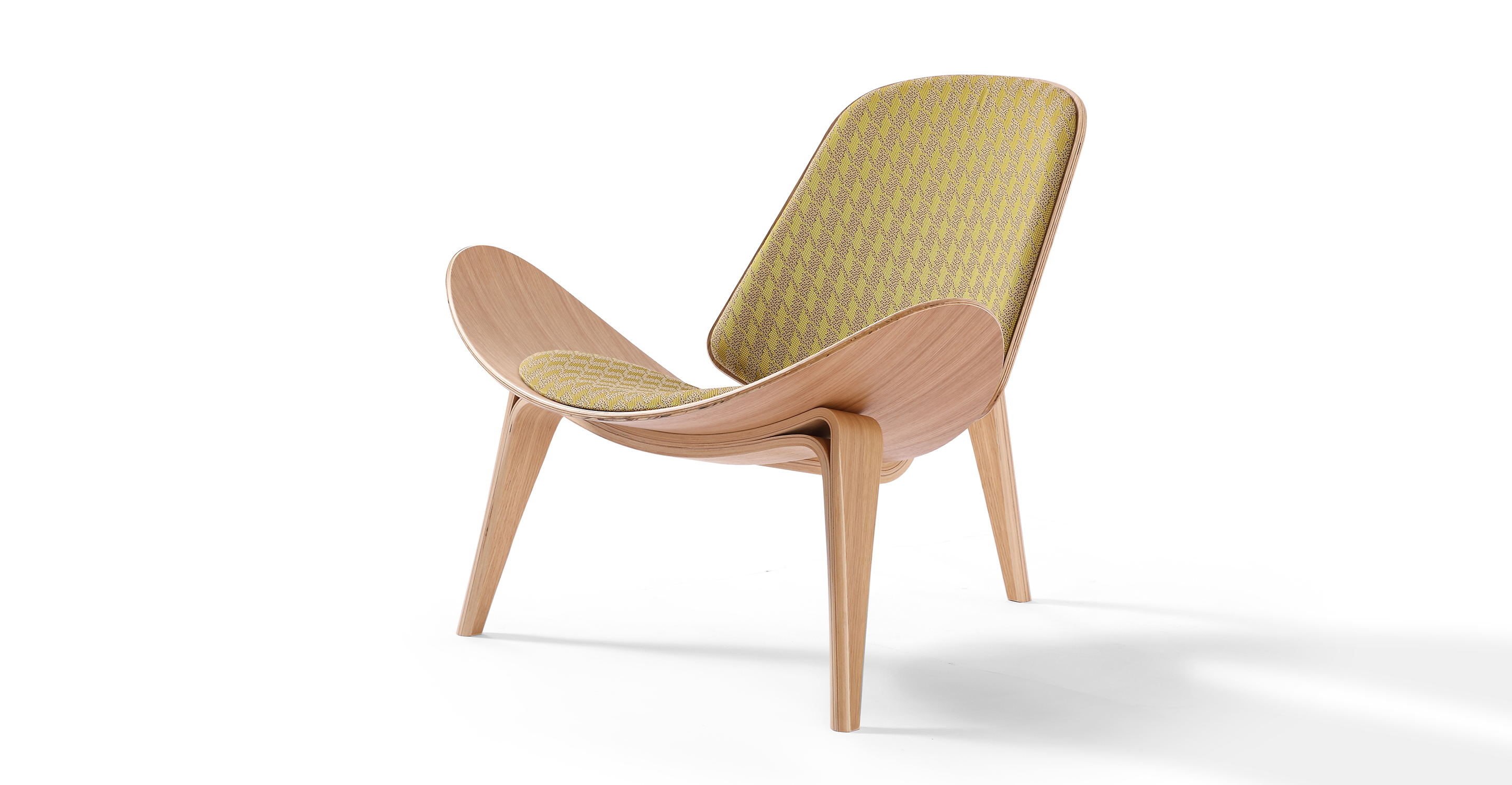 "Tripod 36"" Fabric Chair, Oak/Aspen"