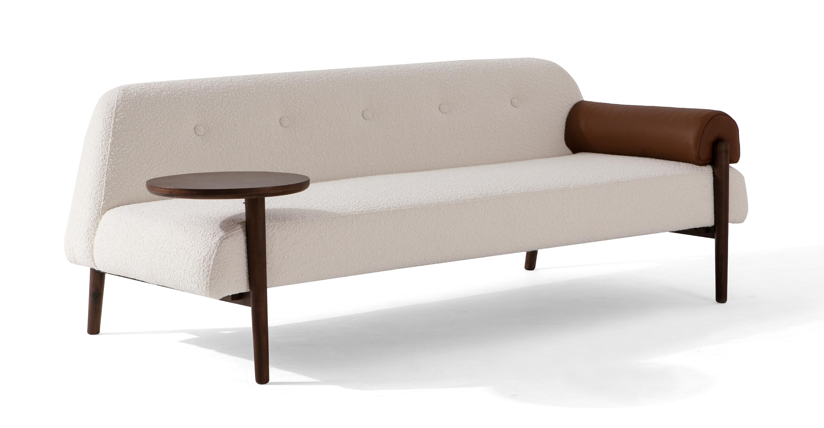 "Wyatt 76"" Fabric Sofa Daybed, Blanc Boucle"