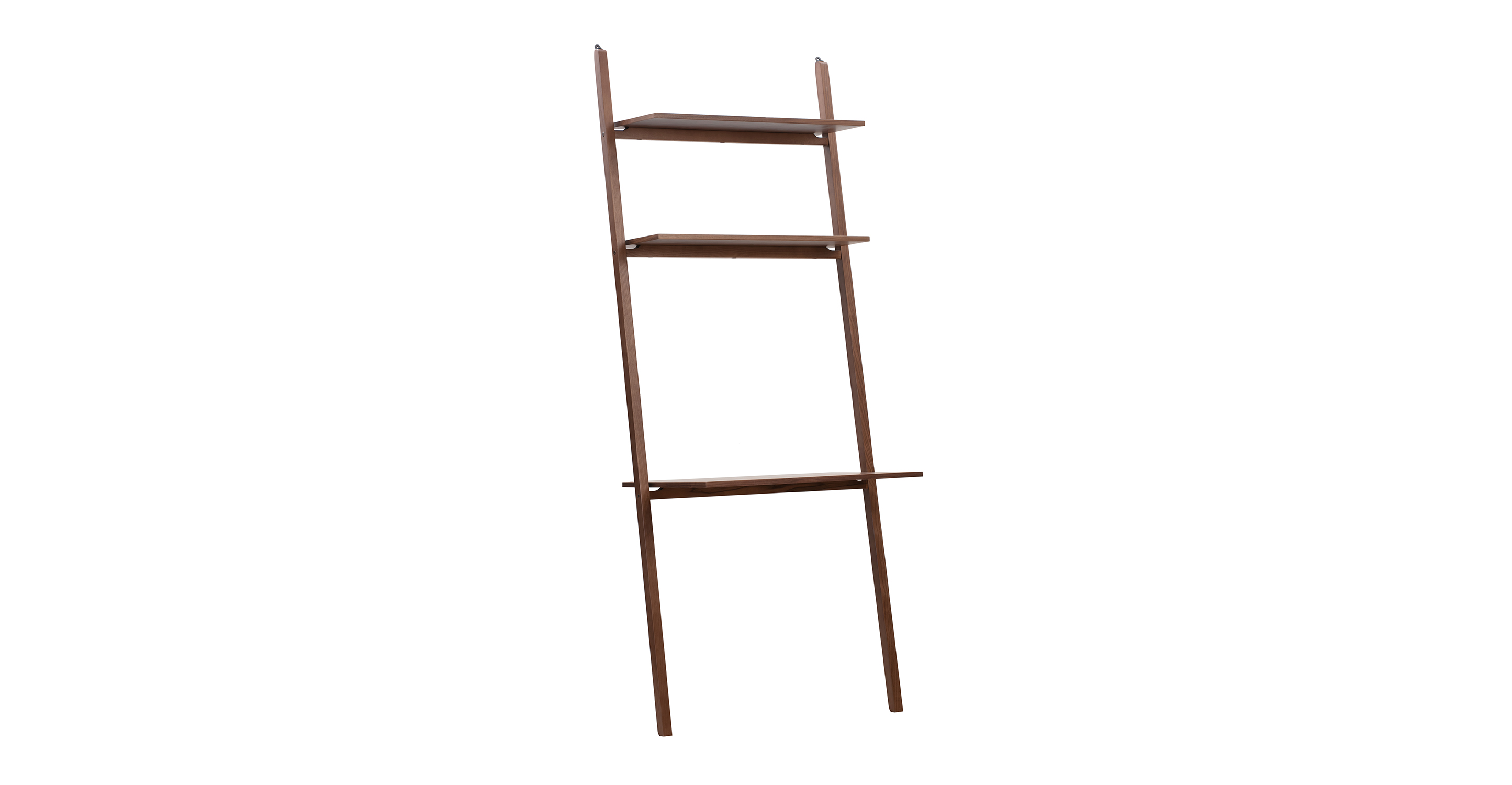"Ladder 32"" Desk Wall Shelf, Walnut"