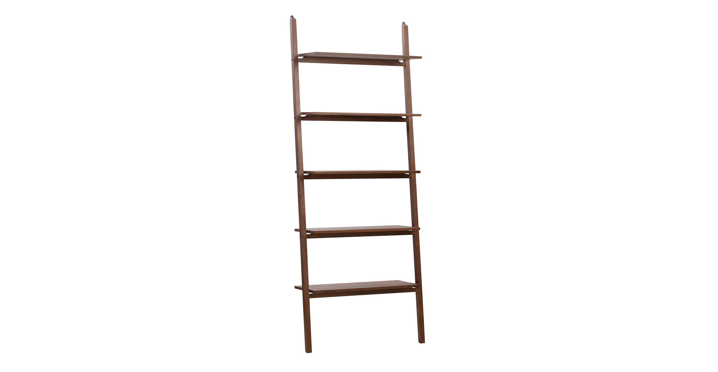 "Ladder 32"" Wall Shelf, Walnut"