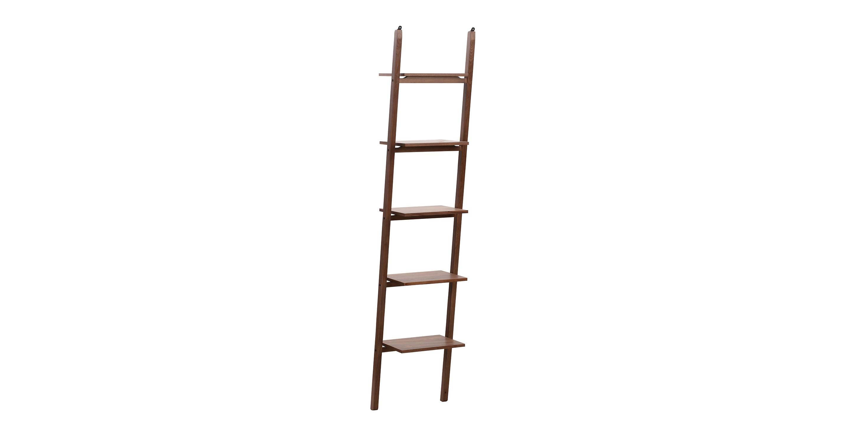 "Ladder 18"" Wall Shelf, Walnut"