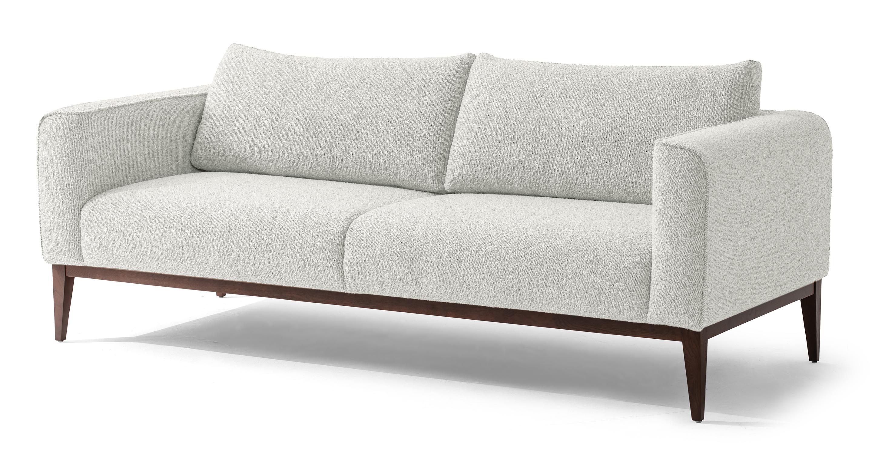 """Colin 84"""" Fabric Sofa, Blanc Boucle"""