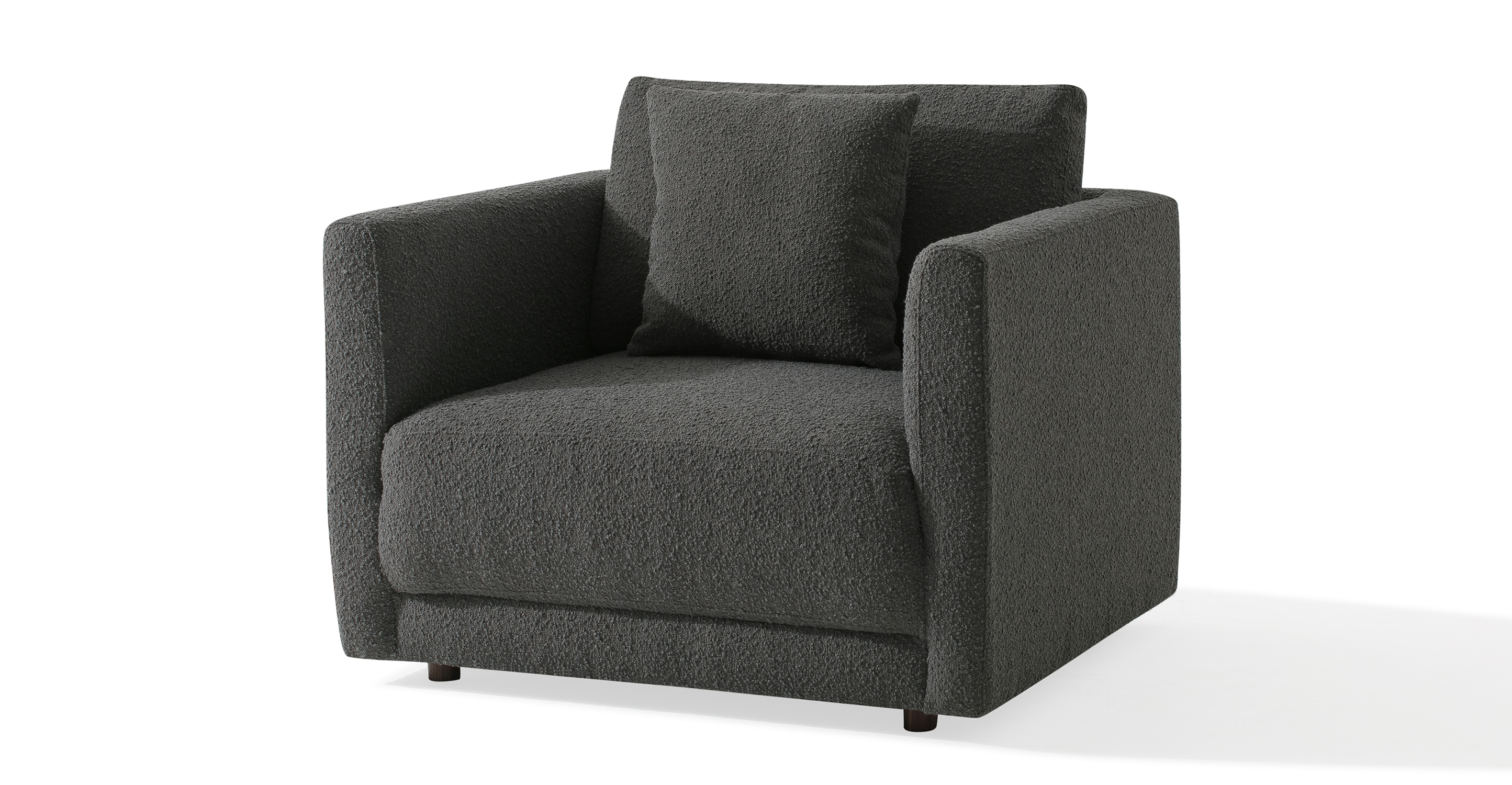 "Domus 39"" Fabric Chair, Gris Boucle"