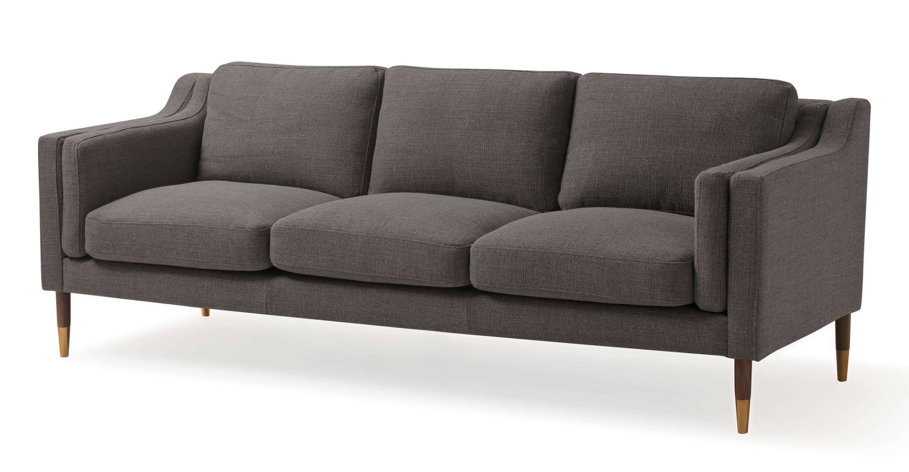 """Monroe Luxe 87"""" Fabric Sofa, Dior Grey"""