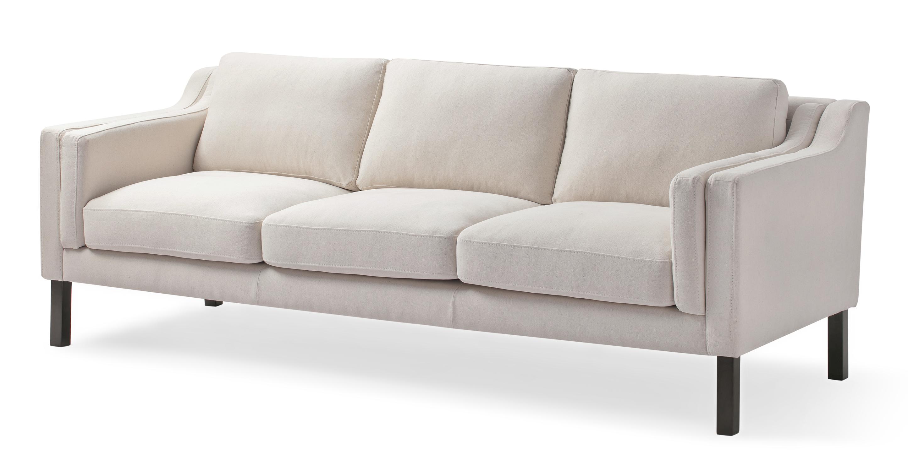 "Monroe 87"" Fabric Sofa, Canvas"