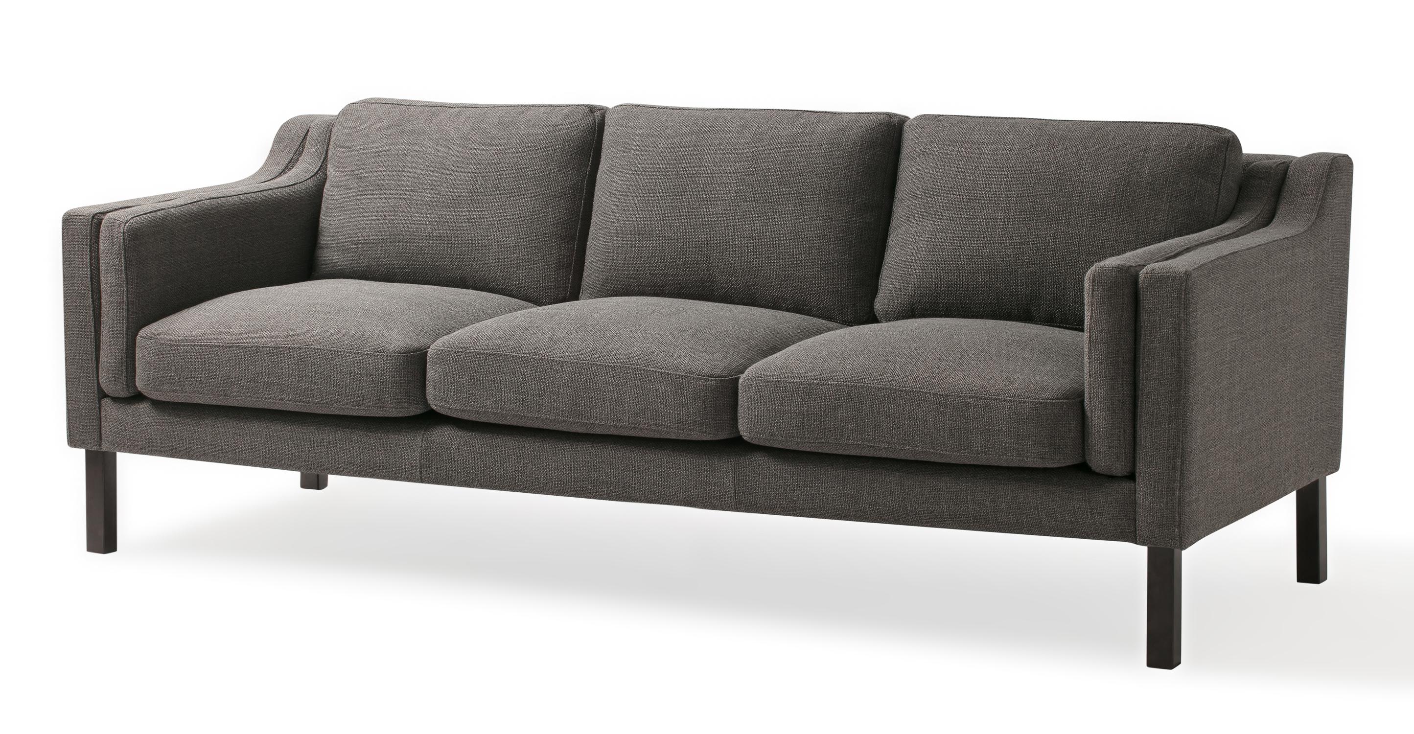 "Monroe 87"" Fabric Sofa, Dior Grey"