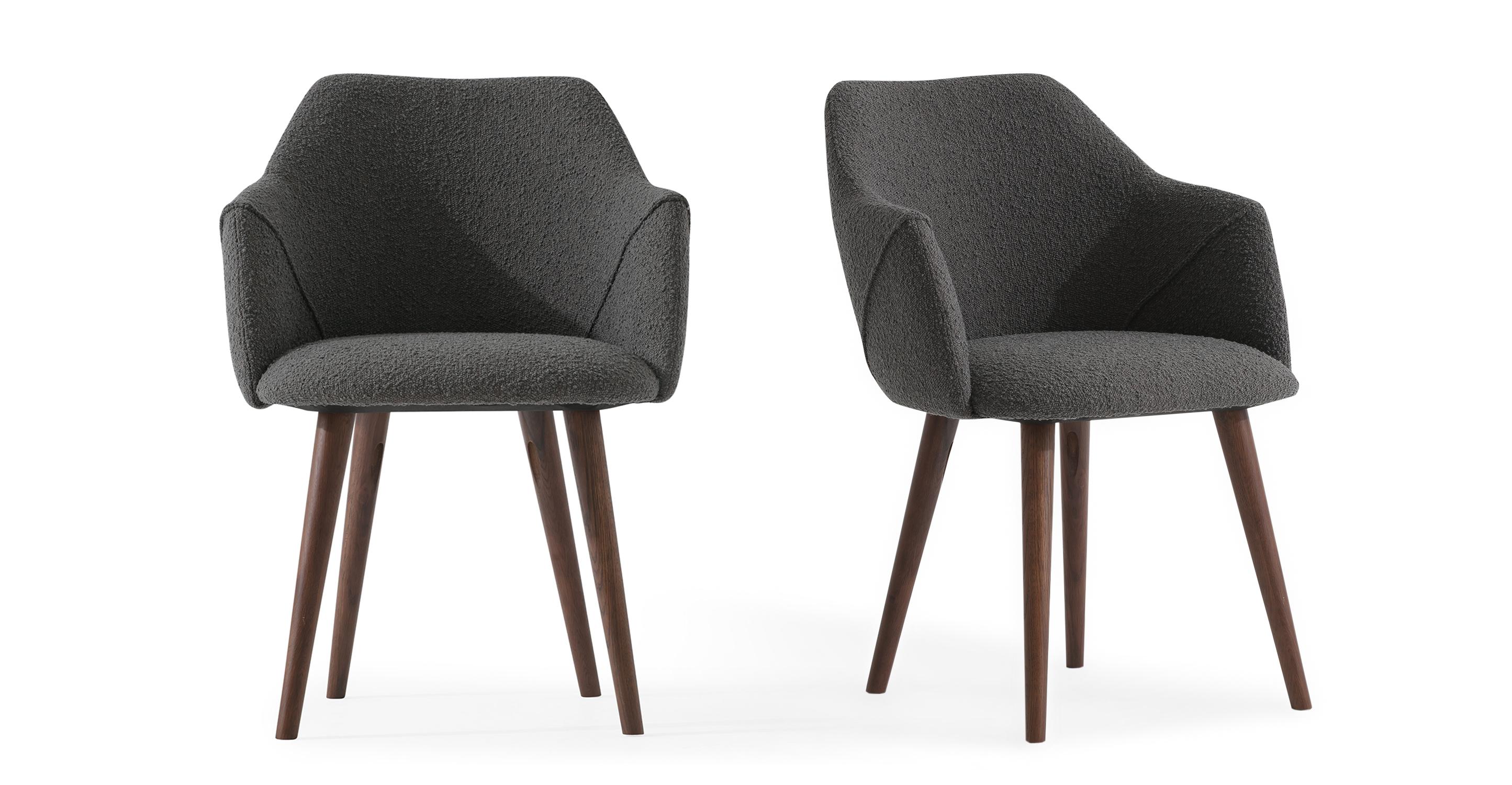 "Berki 23"" 2-pc. Dining Chair, Gris Boucle"