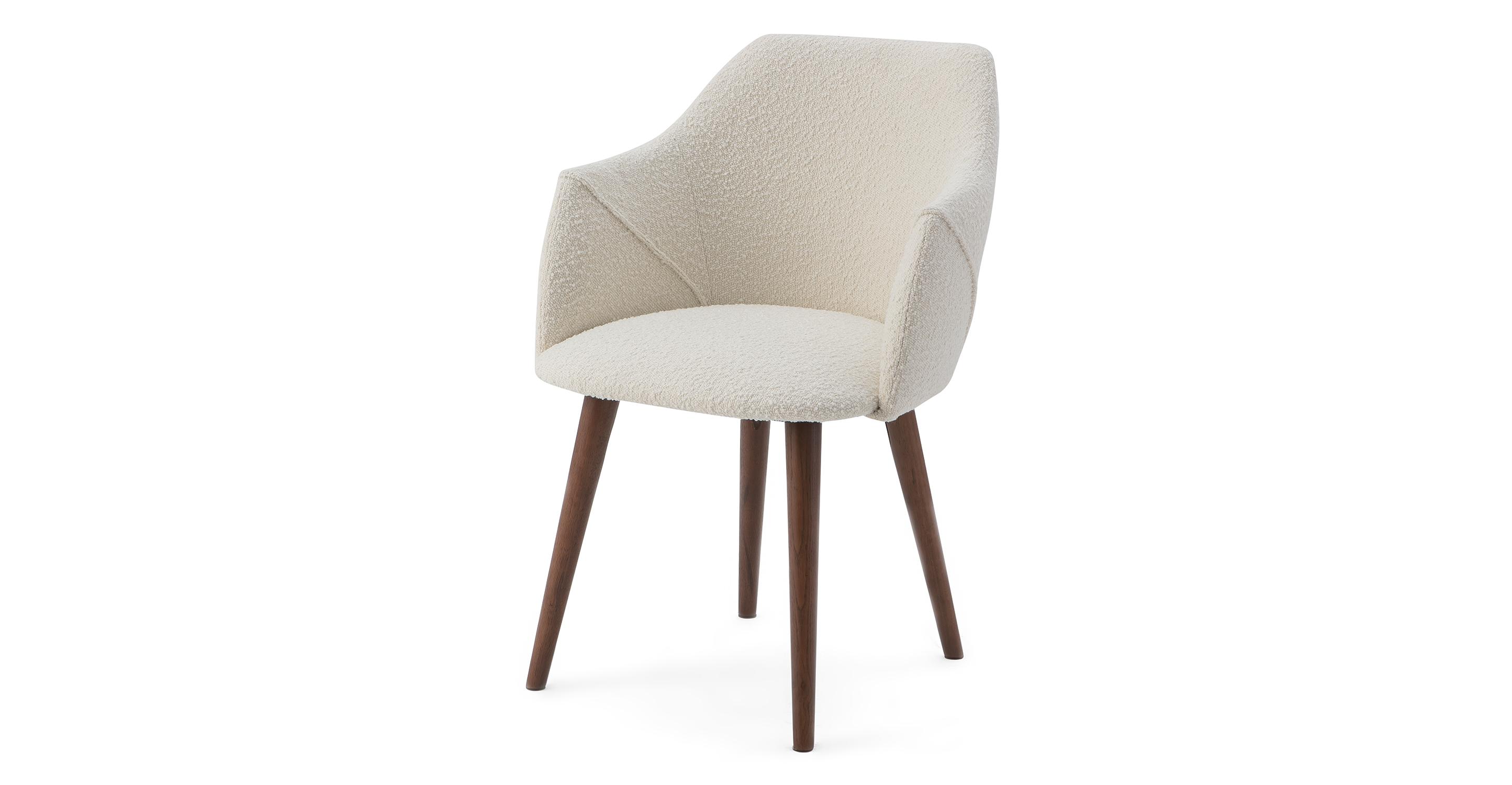 "Berki 23"" 2-pc. Dining Chair, Blanc Boucle"