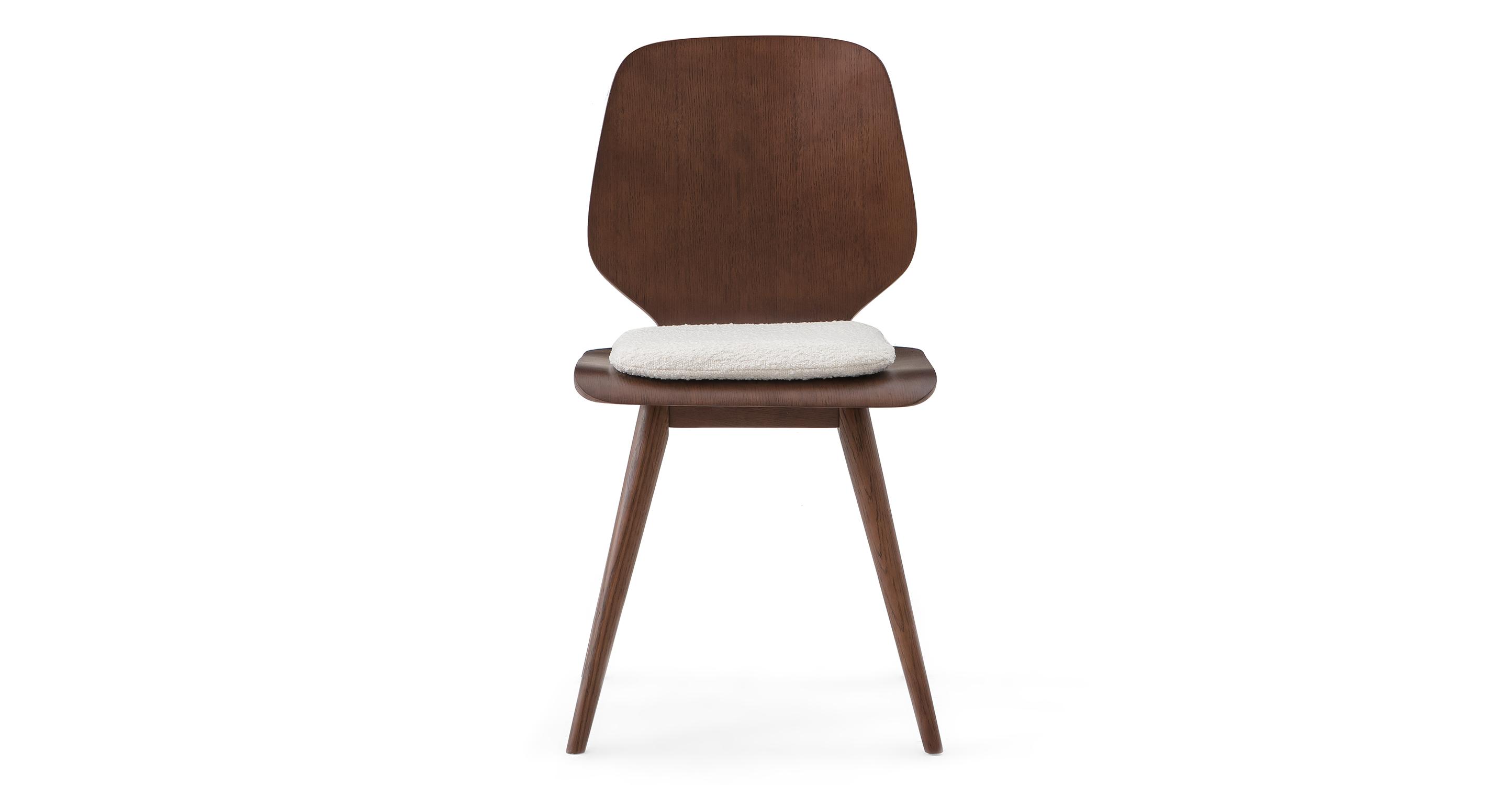 "Oslo 17"" Dining Chair 2-pc Set, Blanc Boucle"