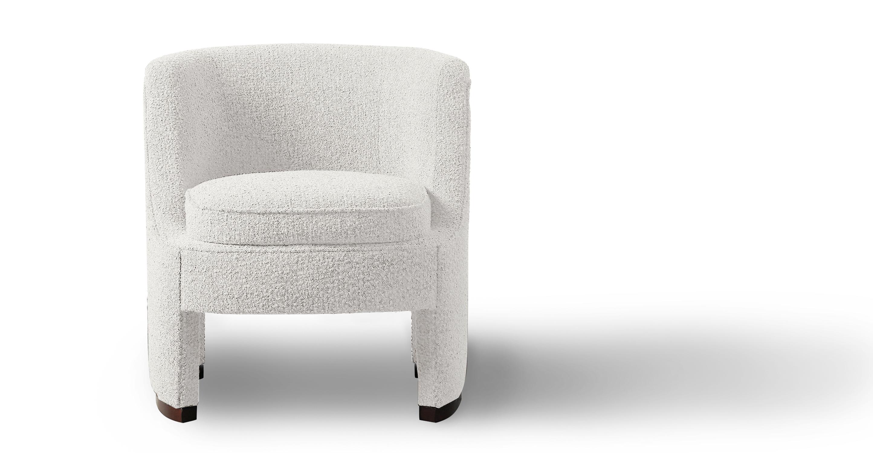 "Roxy 28"" Fabric Chair, Cream Boucle"