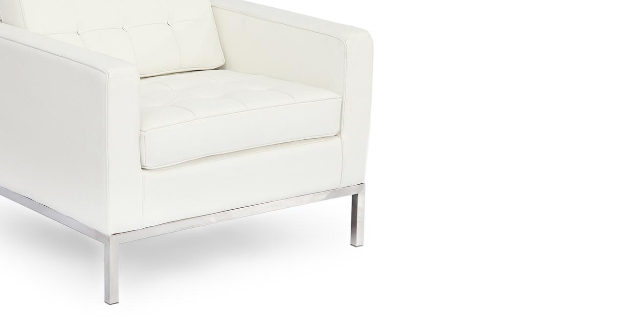 Florence Chair, Ecume White Premium Leather