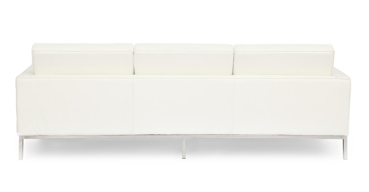 Florence Sofa, Ecume White Leather