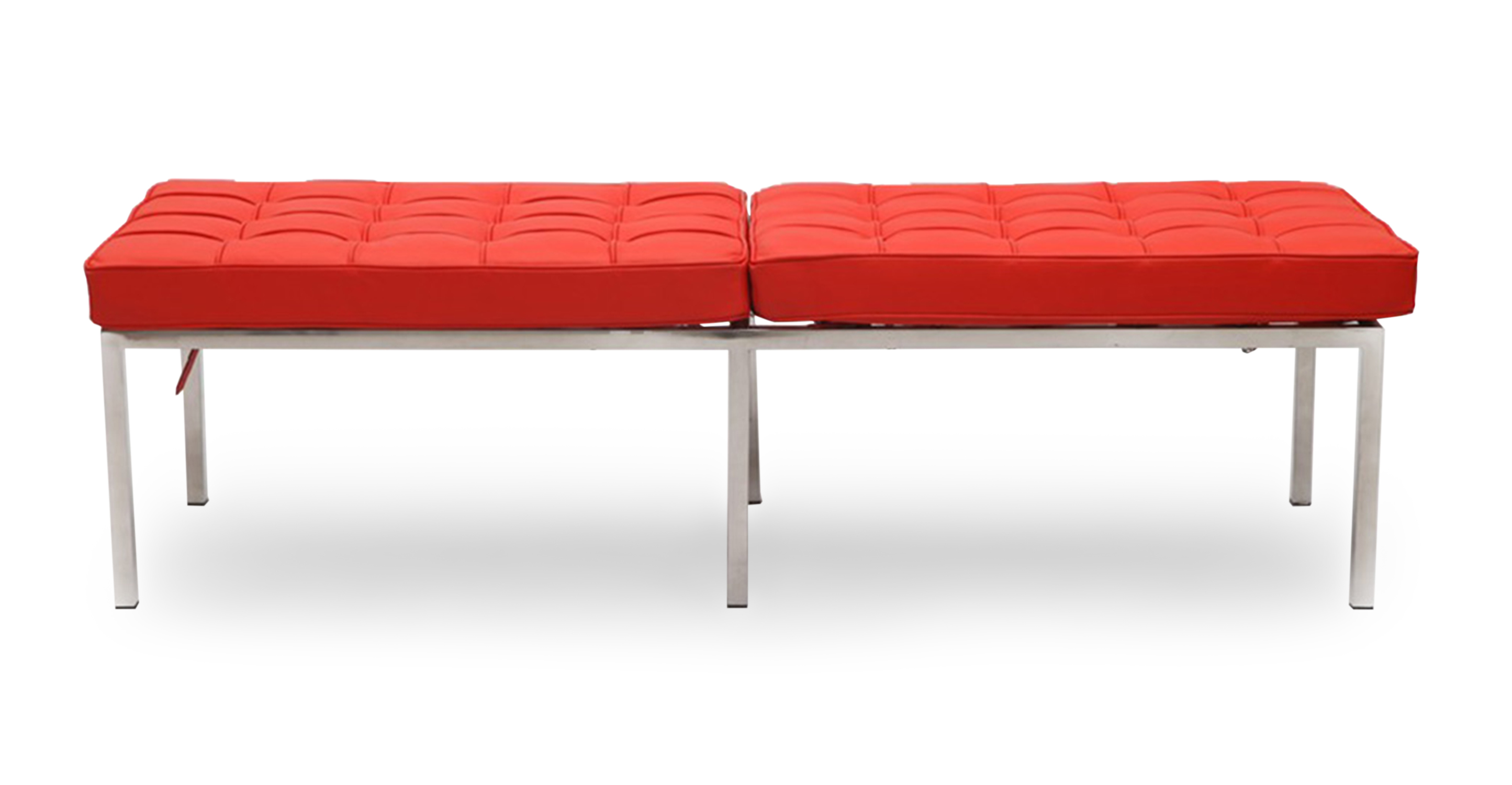 "Florence 60"" Leather Bench, Red Aniline"