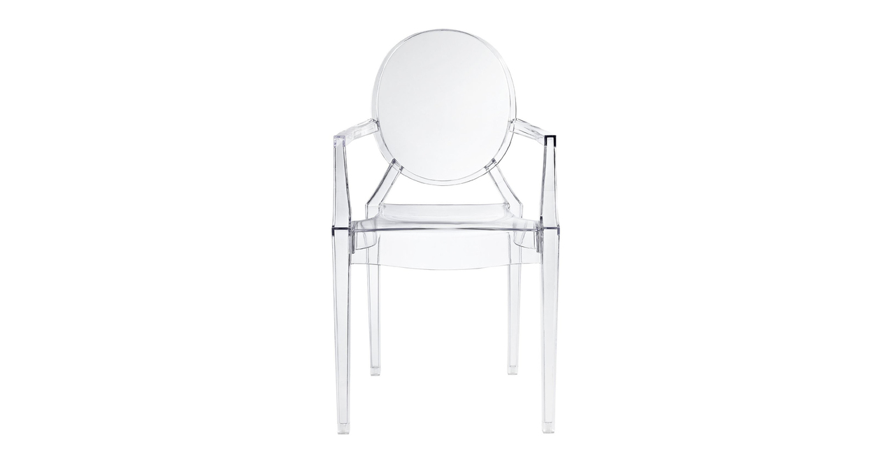 Phillip Arm Chair, Clear