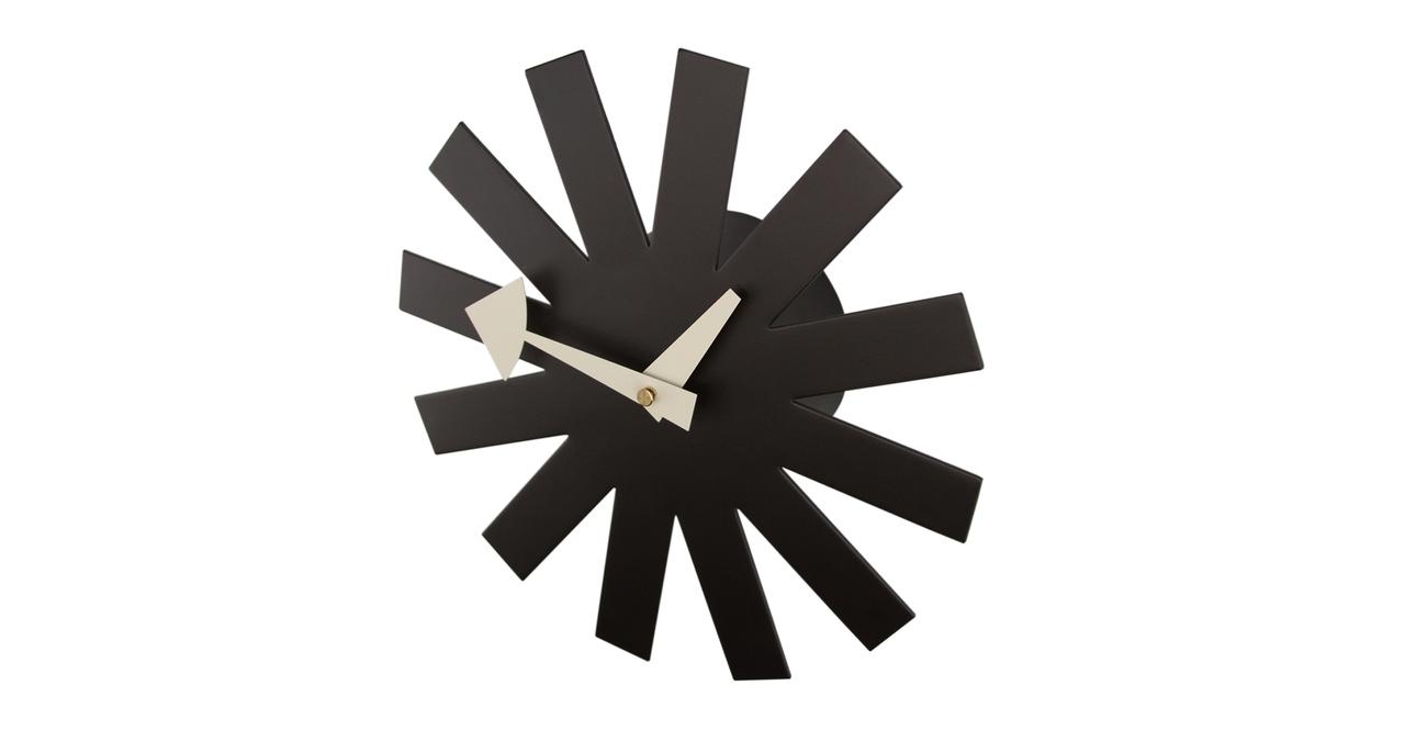 George Nelson Asterisk Clock, Black