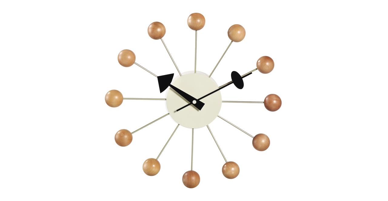 George Nelson Ball Clock Beech