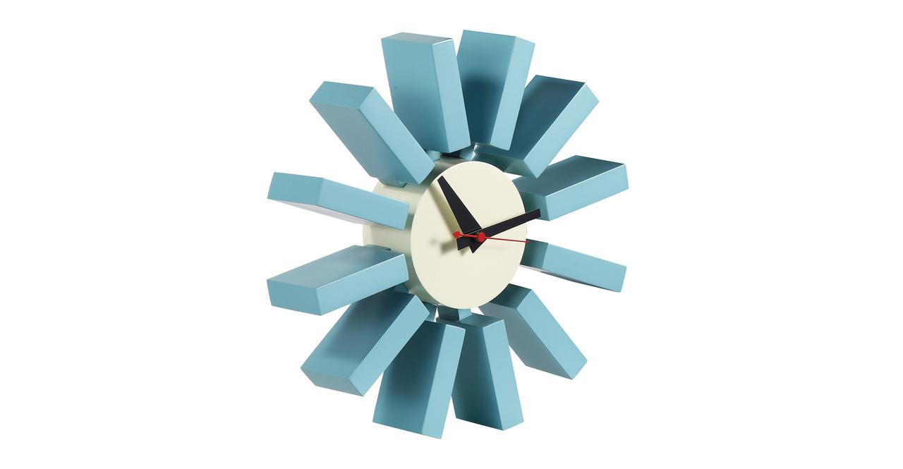 George Nelson Block Clock Blue