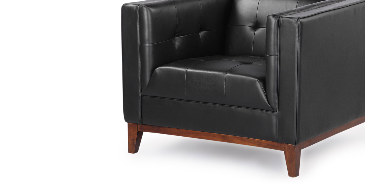 Harrison Chair, Black Premium Leather