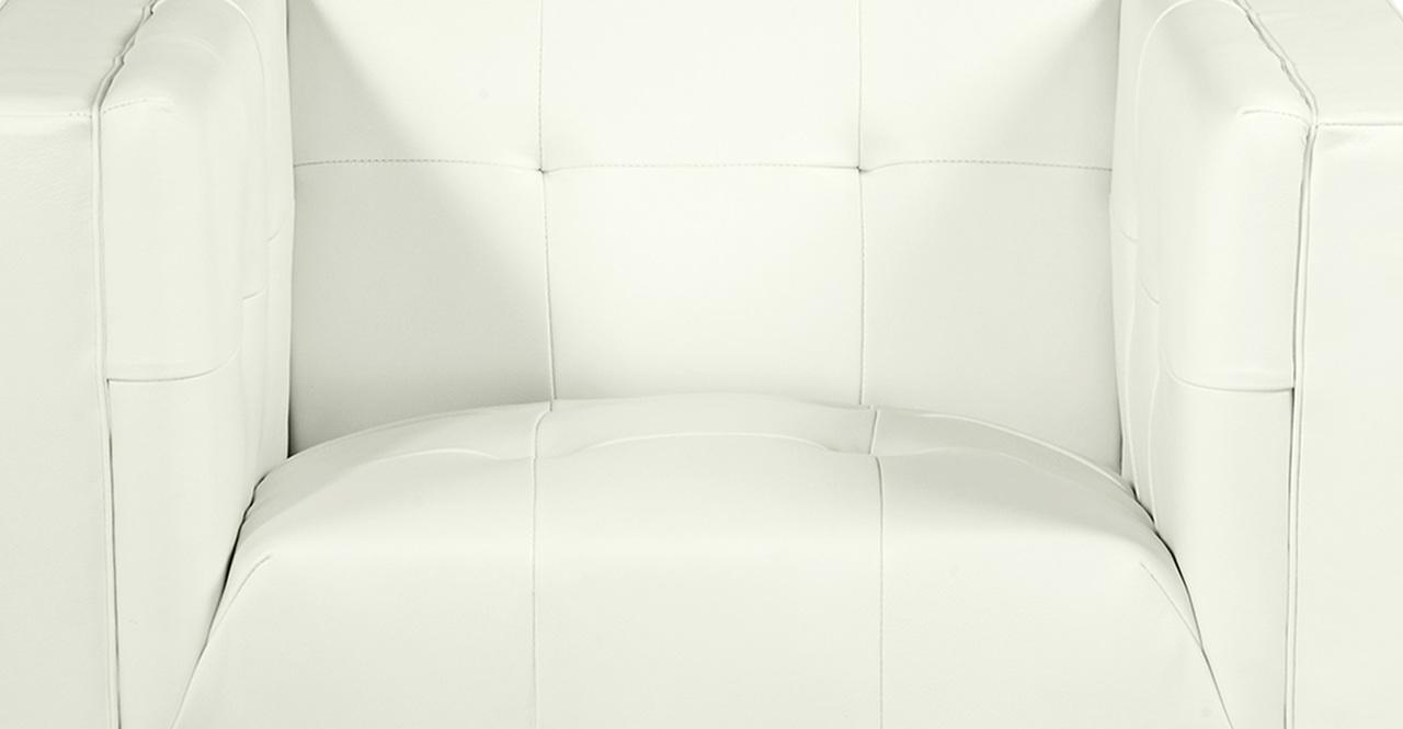 Harrison Chair, White Premium Leather