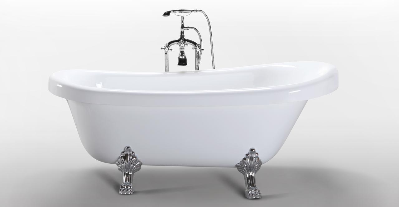 modern clawfoot tub acrylic