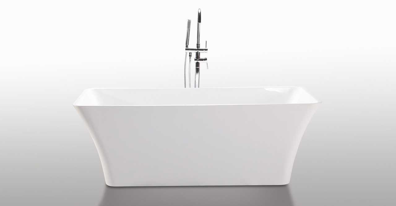 """Parva Bathtub 59"""", White"""