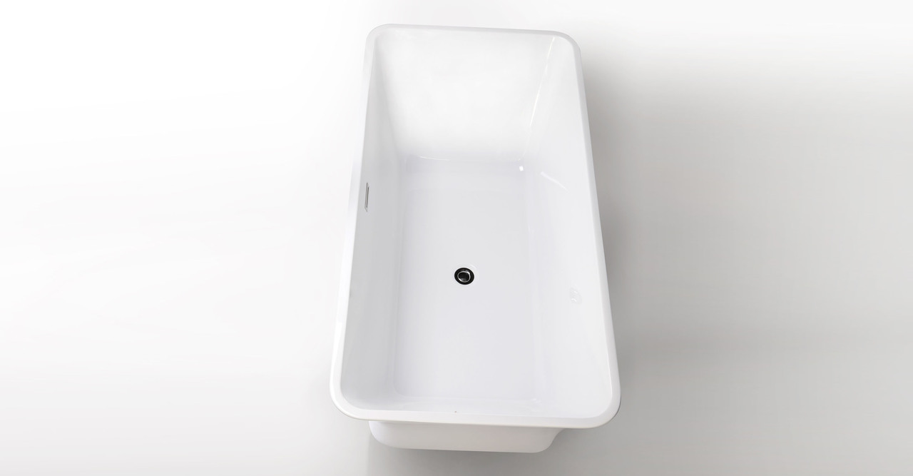 "Parva Bathtub 59"" Rectangle Overflow"