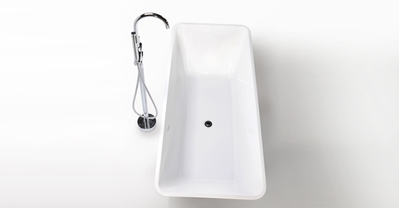 "Parva Bathtub 67"" Rectangle Overflow"