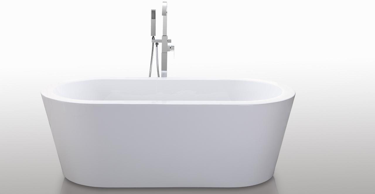 """Pella Bathtub 59"""", White"""